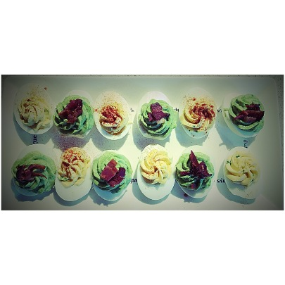 Duo deviled eggs plate